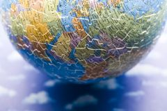 Planet earth from puzzle Stock Photography