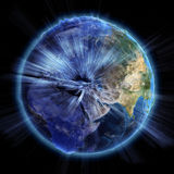 Planet earth real relief Royalty Free Stock Images