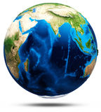 Planet Earth real relief Royalty Free Stock Image