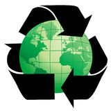 Planet Earth with Recycle Symb Stock Photos