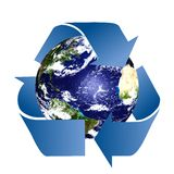 Planet Earth with Recycle Symbol Royalty Free Stock Photo
