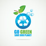 Planet Earth with Recycling sign Royalty Free Stock Image