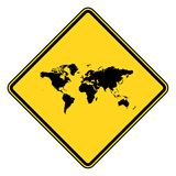 Planet Earth road sign Stock Photography