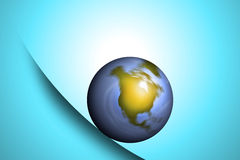 Planet earth rolling. Planet earth falling or rolling on a sloped surface Stock Image