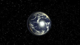 Planet Earth rotating animation focus europe stock footage