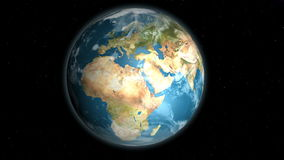 Planet Earth rotation with space background stock video