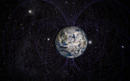 Planet Earth's magnetic field Royalty Free Stock Photos