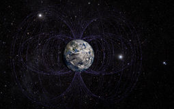 Planet Earth's magnetic field stock images