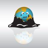 Planet earth sadness crisis oil. Stock Photo