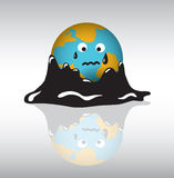 Planet earth sadness crisis oil. Royalty Free Stock Photos