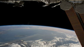 Planet Earth seen from the the International Space Station ISS. Huge Hurricane observed from space. Nasa time lapse stock video footage