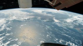 Planet Earth seen from the ISS. Beautiful Planet Earth observed from space. Nasa time lapse shooting earth from space stock video footage