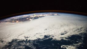 Planet Earth seen from the ISS. Beautiful Planet Earth observed from space. Nasa time lapse shooting earth from space. Elements of this video furnished by NASA stock footage