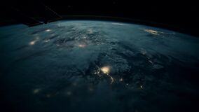 Planet Earth seen from the ISS. Beautiful Planet Earth observed from space. Elements of this video furnished by NASA. Planet Earth seen from the ISS. Beautiful stock video footage