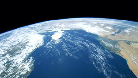 Planet Earth seen from the ISS. Elements of this video furnished by NASA. stock video footage