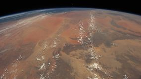 Planet Earth seen from the ISS. Elements of this video furnished by NASA. stock video