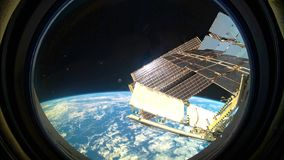 Planet Earth seen from the ISS. Space exploration of planet Earth. Planet Earth seen from the ISS. International Space Station. Made of a series of photographs stock video footage