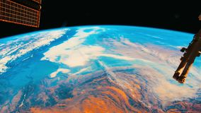 Planet Earth seen from space stock footage