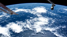 Planet Earth seen from the space. Elements of this video furnished by NASA. stock video footage