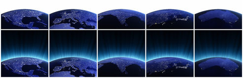 Planet earth set Stock Photography