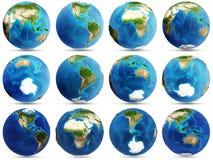 Planet Earth set Stock Image