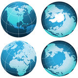 Planet Earth Set On White Royalty Free Stock Images