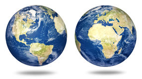 Planet earth set on white Stock Photography