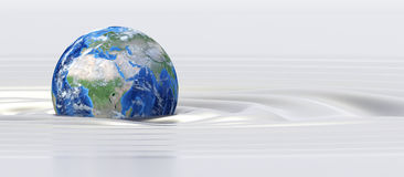 Planet Earth in silk fluid Royalty Free Stock Photos