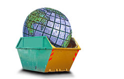 Planet earth in a skip Stock Photos