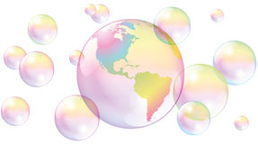 Planet Earth Soap Bubbles World Royalty Free Stock Image
