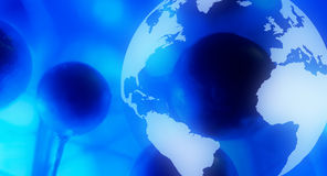 Planet earth social media blue background Royalty Free Stock Photos