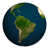 Planet earth. South America. Stock Photo