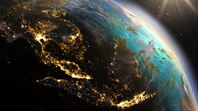 Planet Earth South East Asia zone using satellite imagery NASA Royalty Free Stock Photo