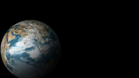 Planet earth from Space. View of a 3D Globe from Space - very high quality render Royalty Free Stock Image