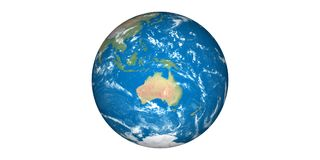 Planet earth in space blue planet stock illustration