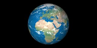 Planet earth in space blue planet vector illustration