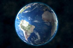 Planet Earth in space. 3D rendering, elements of this image furnished by NASA royalty free illustration