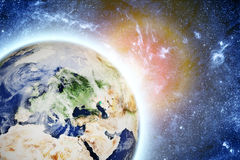 Planet earth in space Stock Image