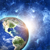Planet earth in space Stock Photography