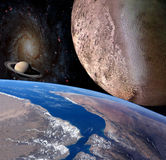 Planet earth in the space. Stock Photos