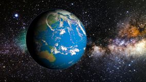 Planet earth in space stock footage