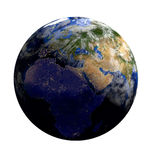 Planet earth in space.Europe, Africa, Asia. 3d render. `Elements of this image furnished by NASA Royalty Free Stock Images