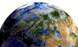 Planet earth in space.Europe, Africa, Asia. Royalty Free Stock Photography
