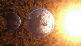 Planet Earth in space. Globe in galax Royalty Free Stock Image