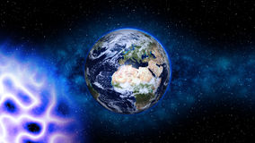 Planet Earth in space. Globe in galaxy Royalty Free Stock Photo