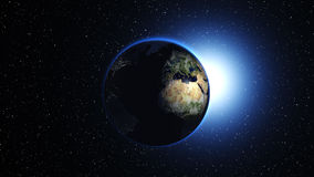 Planet Earth in space. Globe in galaxy Royalty Free Stock Photography