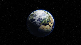 Planet Earth in space. Globe in galaxy Royalty Free Stock Photos