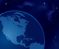 Planet Earth in Space - illustration - vector Stock Images
