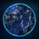 Planet earth from the space at night. Some elements of this image furnished by NASA Royalty Free Stock Photo