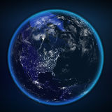 Planet earth from the space at night. Some elements of this image furnished by NASA Stock Image